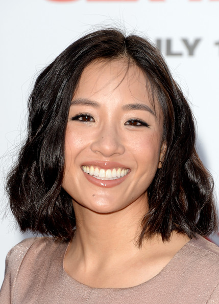 Constance Wu Medium Wavy Cut [sex tape,hair,face,eyebrow,hairstyle,chin,lip,forehead,skin,smile,beauty,arrivals,constance wu,columbia pictures sex tape,california,regency village theatre,columbia pictures,westwood,premiere,premiere]