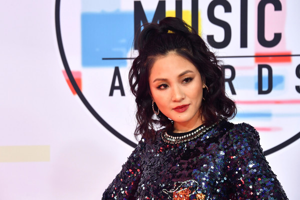 Constance Wu Half Up Half Down [hair,singer,black hair,talent show,smile,arrivals,constance wu,american music awards,microsoft theater,los angeles,california]