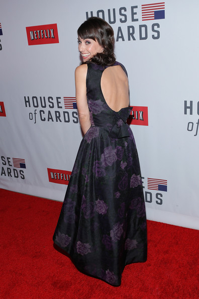 Constance Zimmer Evening Dress [house of cards,clothing,red carpet,carpet,dress,premiere,flooring,event,arrivals,constance zimmer,new york,alice tully hall,netflix,new york premiere]