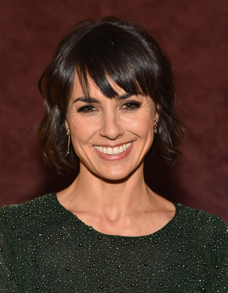 Constance Zimmer Short Wavy Cut [hair,face,hairstyle,bangs,eyebrow,chin,smile,layered hair,lip,brown hair,constance zimmer,results,screening,los angeles,california,landmark theatre,los angeles special screening and reception]
