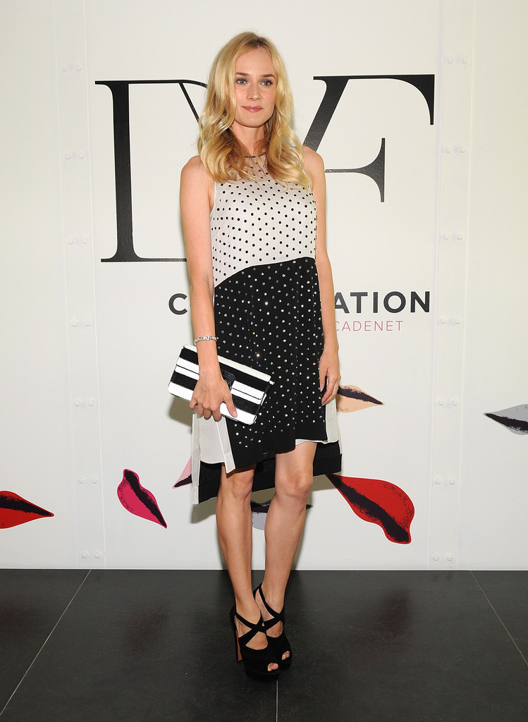 "Diane Kruger attends  ""The Conversation Launch Celebration at DVF Studio on May 6, 2012 in New York City."