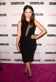 That cleavage-baring panel on Katie Lowes' Jay Godfrey dress put a sexy punch on the classic LBD.