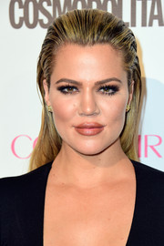 Khloe Kardashian went punk with this slicked-back 'do during Cosmopolitan's 50th birthday celebration.