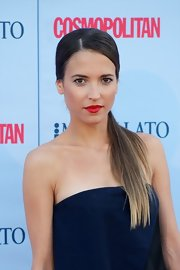 Ana Fernandez opted for a sleek low ponytail for her look at the 'Cosmopolitan' Fragrance Awards.
