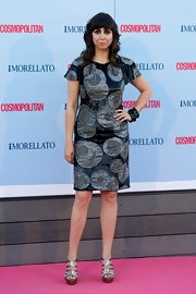 Carmen Ruiz chose a bold spherical-printed dress for her look at the 'Cosmopolitan' Fragrance Awards in Madrid.