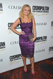 Miranda Lambert added color with vibrant d'orsay platform pumps.