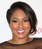 Alicia Quarles was punk-chic with her asymmetrical short 'do at the Cosmopolitan Magazine 50th anniversary event.