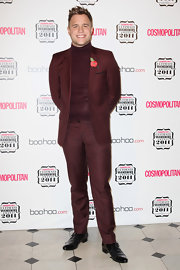 Olly Murs finished his look by wearing a pair of buckled wingtips.