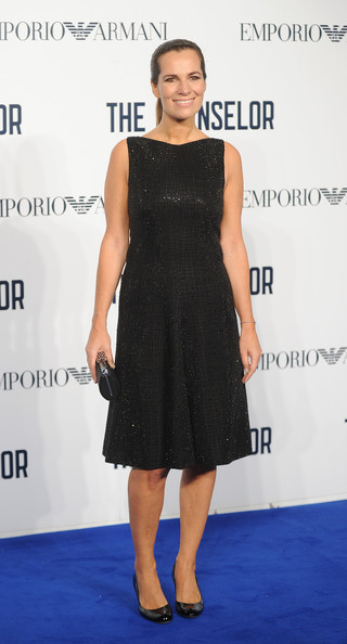 Roberta Armani looked totally classic in a sleeveless LBD and simple black pumps during the screening of 'The Counselor.'