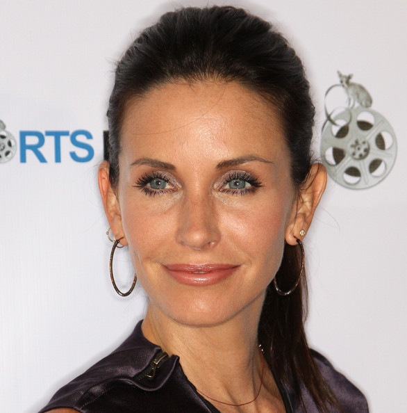 Courteney Cox Diamond Hoops