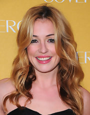 Cat Deeley added a polished pop to her pout with gleaming pink lip gloss.