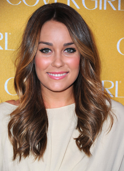 Lauren Conrad debuted soft brown tresses at CoverGirl Cosmetics 50th Anniversary party.