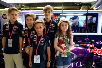 Cruz Beckham Romeo Beckham F1 Grand Prix of Great Britain