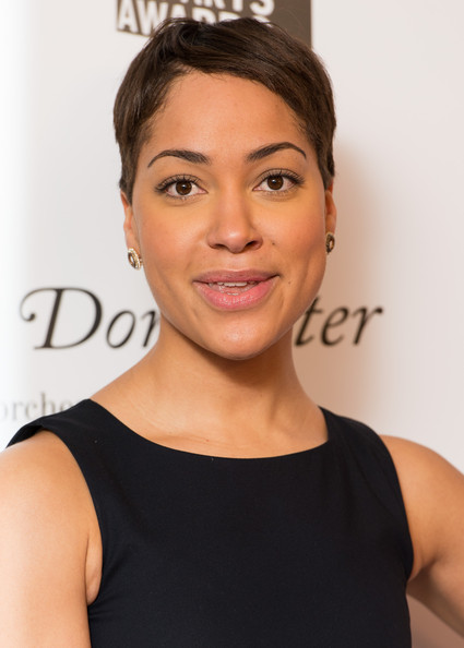 Cush Jumbo Short Side Part [hair,face,eyebrow,hairstyle,shoulder,chin,skin,forehead,beauty,lip,red carpet arrivals,cush jumbo,awards,sky arts awards,south bank,london,england,dorchester hotel,sky arts]