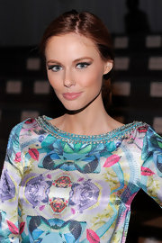 Alyssa Campanella applied deep gray shades of shadow to create her smoky-eyed look at the Custo Barcelona fall 2012 fashion show.
