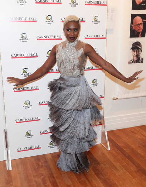 Cynthia Erivo Fringed Dress