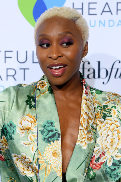 Cynthia Erivo Short Curls [joyful heart foundation hosts the joyful revolution gala,hair,hairstyle,beauty,fashion,lip,blond,fashion design,eyelash,smile,magazine,mariska hargitay,cynthia erivo,new york city,joyful heart foundation,the joyful revolution gala]