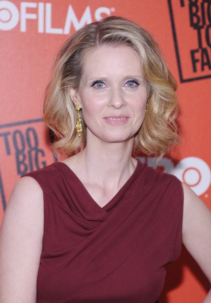 Cynthia Nixon Short Wavy Cut [too big to fail,hair,face,blond,hairstyle,eyebrow,beauty,chin,premiere,long hair,layered hair,arrivals,cynthia nixon,new york,the museum of modern art,new york premiere]