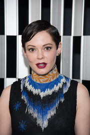 Rose McGowan sported a slick short 'do at the New York opening of 'Scenario in the Shade.'