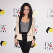Vanessa Hudgens' Two-Tone Blazer and Black Skinnies