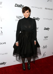 Kris Jenner attended the Fashion Los Angeles Awards wearing the sexiest turtleneck we've ever seen, with its skintight fit and semi-sheer fabric.