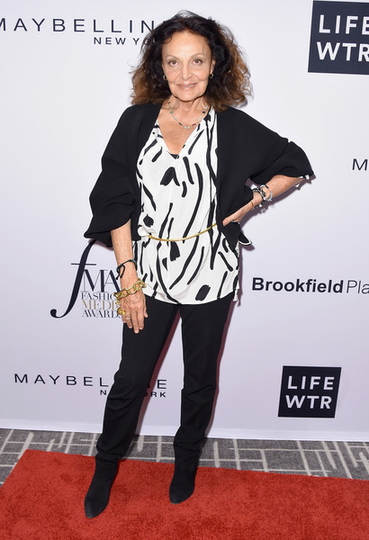 Diane von Furstenberg at Daily Front Row's Fashion Media Awards