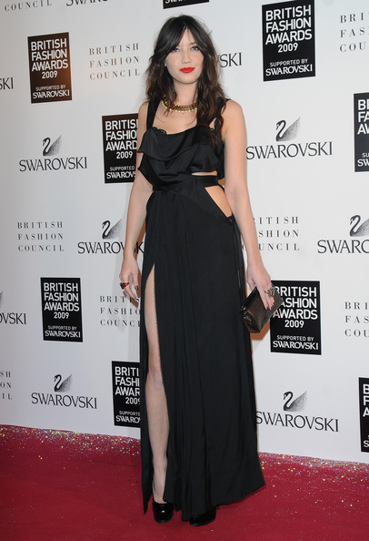 Daisy Lowe Cutout Dress [little black dress,flooring,fashion model,shoulder,carpet,dress,fashion,red carpet,leg,gown,red carpet arrivals,daisy lowe,strand,british fashion awards,london,england,royal courts of justice]