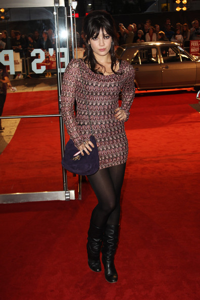 Daisy Lowe Mini Dress [made in dagenham,clothing,tights,thigh,red carpet,leg,carpet,flooring,premiere,fashion,human leg,daisy lowe,uk,england,london,the odeon leicester square,tabloid newspapers,made in dagenham - world premiere - inside arrivals,world premiere]