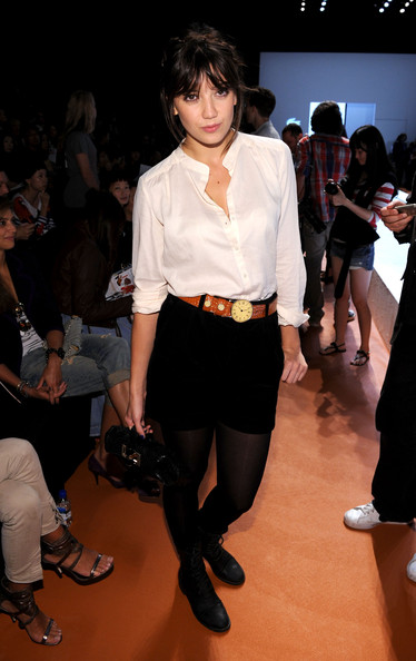 Daisy Lowe Dress Shorts [mbfw,fashion,clothing,fashion model,fashion show,event,fashion design,leg,tights,runway,haute couture,daisy lowe,lacoste - front row,new york city,lincoln center,the theater,fashion show,lacoste spring 2011,mercedes-benz fashion week]