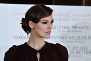 Keira Knightley wore her glossy tresses in very subtle finger waves with a loose bun at the UK premiere of 'A Dangerous Method.'