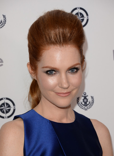 Darby Stanchfield Ponytail [hair,face,hairstyle,eyebrow,chin,beauty,blond,lip,forehead,shoulder,darby stanchfield,instyle summer soiree - arrivals,instyle summer soiree,hotel,mondrian,west hollywood,california]