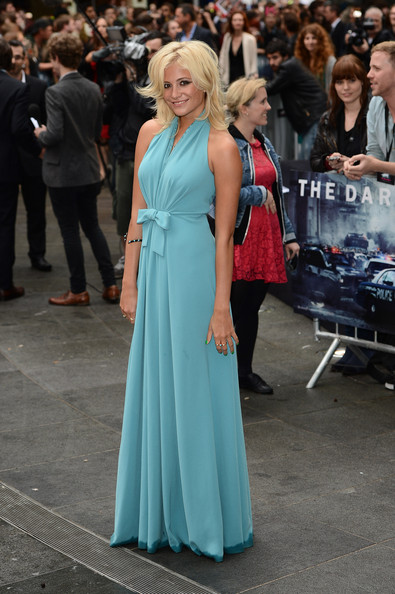 Pixie Lott in an Aquamarine Halter