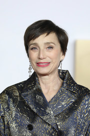 Kristin Scott Thomas attended the UK premiere of 'Darkest Hour' wearing her signature pixie.