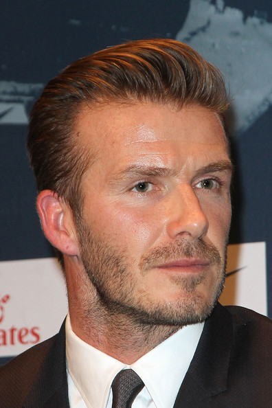 More Pics of David Beckham Short Side Part (4 of 30) - David Beckham Lookbook - StyleBistro