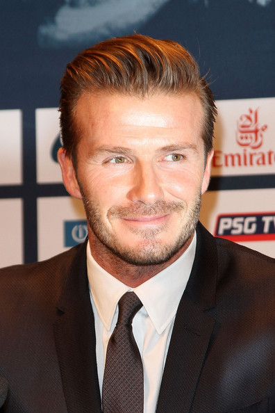 More Pics of David Beckham Short Side Part (6 of 30) - David Beckham Lookbook - StyleBistro