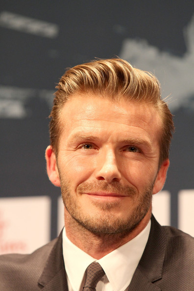 More Pics of David Beckham Short Side Part (3 of 30) - David Beckham Lookbook - StyleBistro