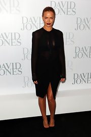 Lara Bingle was subtly provocative in this semi-sheer LBD at the David Jones season launch.