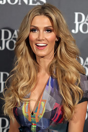 Delta Goodrem had a romantic aura about her with this long curly 'do at the 2012 David Jones Autumn/Winter fashion show.