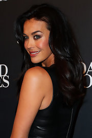 Megan Gale sported subtle waves for a bit of volume when she attended the David Jones fashion launch.