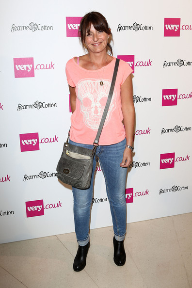Davina McCall Leather Shoulder Bag [clothing,shoulder,fashion,joint,footwear,jeans,fashion design,t-shirt,style,magenta,fashion collection,fearne cotton,davina mccall,very.co.uk collection - photocall,england,london,claridges hotel,launch,show]