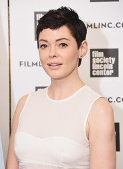 Rose McGowan worked a fauxhawk at the New York screening of 'Dawn.'