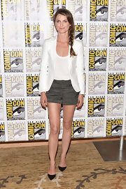 Keri's structured white blazer kept her look sleek and sophisticated.
