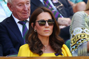 Kate Middleton wore her signature curly hairstyle while watching Wimbledon 2018.