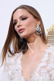 Georgina Chapman sported a sleek straight 'do at the De Grisogono party.