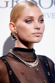 Elsa Hosk showed off a super-sleek chignon at the De Grisogono Love on the Rocks party.