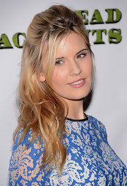 Maggie Grace looked like an ethereal beauty with her dirty-blond waves half pinned back.