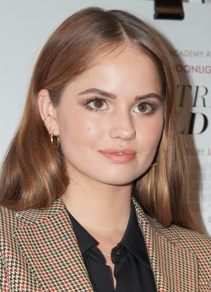 Debby Ryan Long Center Part [if beale street could talk,hair,face,hairstyle,eyebrow,lip,blond,beauty,brown hair,long hair,chin,debby ryan,west hollywood,california,the london hotel,screening,screening]