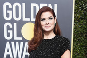 Debra Messing Metallic Clutch