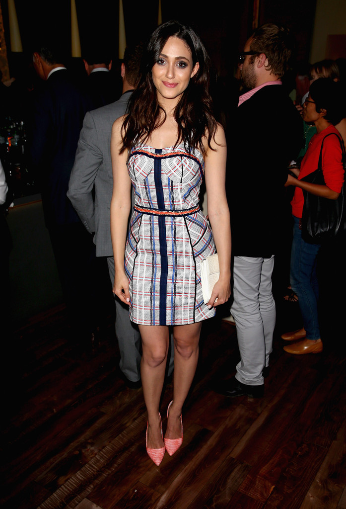 Actress Emmy Rossum attends a summer celebration hosted by Delta Air Lines on August 15, 2013 in Beverly Hills, featuring celebrity guests, customers and L.A. influencers.