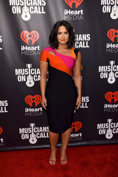 Demi Lovato Cutout Dress